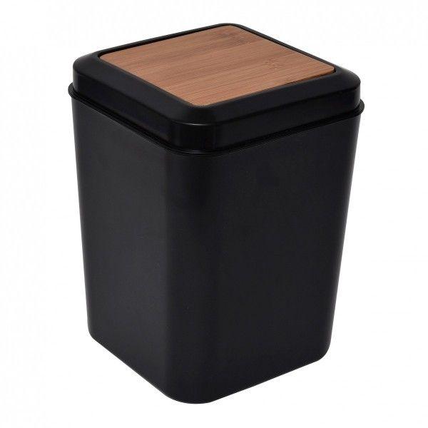 Salle de bain gobelet porte savon miroir poubelle - Poubelle salle de bain bambou ...