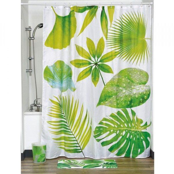 Rideau de douche vert douche baignoire eminza for Rideau de douche chic