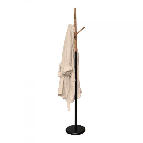 porte serviette salle de bain bambou et noir porte serviette eminza. Black Bedroom Furniture Sets. Home Design Ideas
