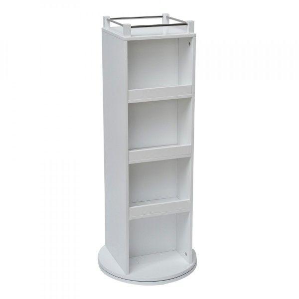 meuble petite colonne salle de bain pivotant elly blanc. Black Bedroom Furniture Sets. Home Design Ideas