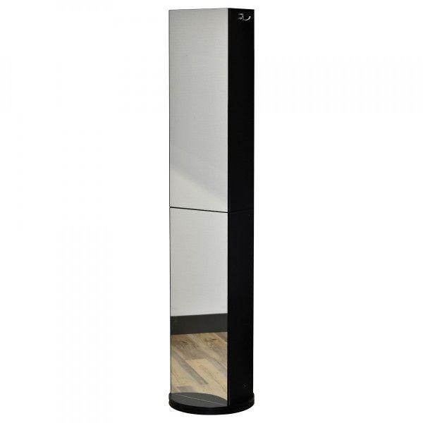 Meuble Pivotant Salle De Bain meuble colonne de salle de bain pivotant phuket noir - meuble de