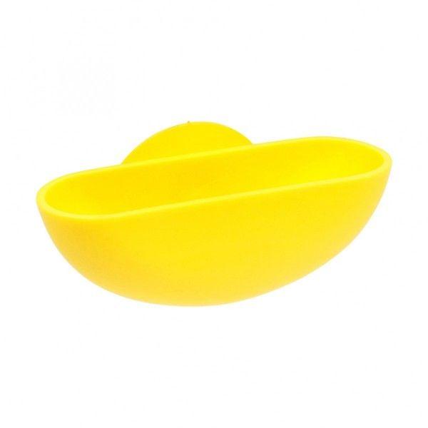 porte savon ventouse vitamine jaune accessoire salle de. Black Bedroom Furniture Sets. Home Design Ideas