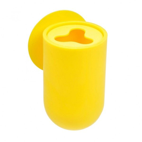 Salle de bain jaune eminza - Porte brosse a dent ventouse ...