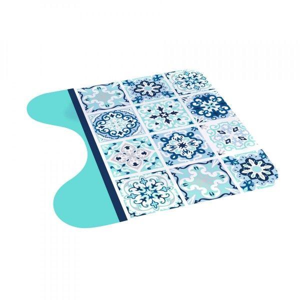 Tapis Contour Wc Tiles Bleu Tapis Eminza