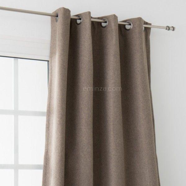 rideau obscurcissant isolant 140 x h260 cm bor al taupe rideau voilage store eminza