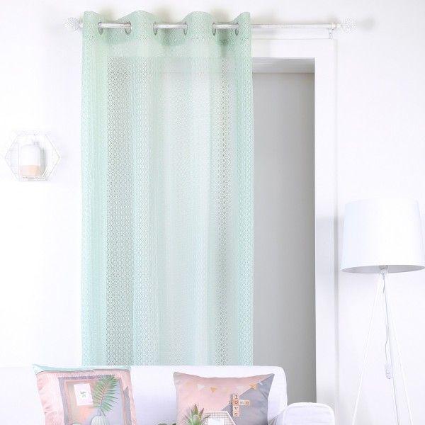 voilage vert rideau et voilage eminza. Black Bedroom Furniture Sets. Home Design Ideas
