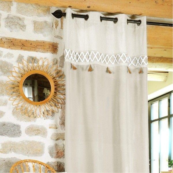 Rideau tamisant (140 x 260 cm) Nelia Lin - Rideau / Voilage / Store ...