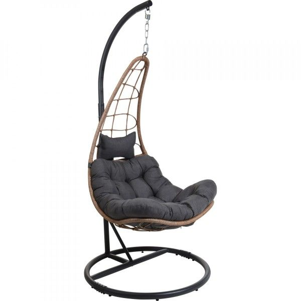 fauteuil suspendu gwada taupe transat et hamac eminza. Black Bedroom Furniture Sets. Home Design Ideas