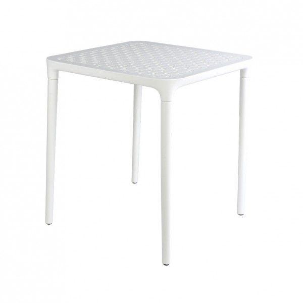 Salon de jardin, table et chaise + Blanc - Eminza