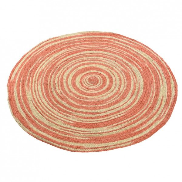 Tapis rond (D120 cm) Poloma  Corail