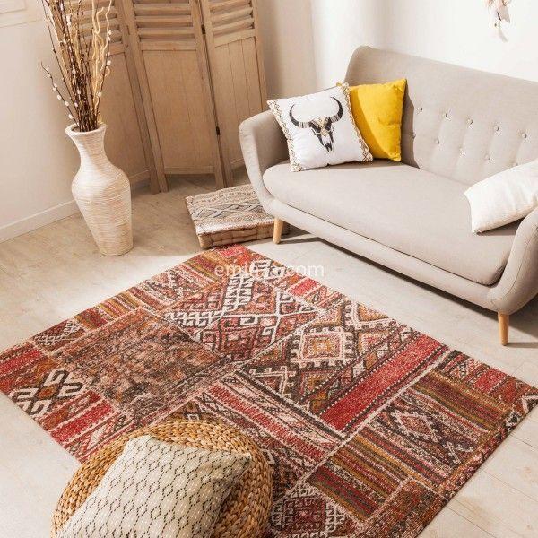 tapis patchwork 170 cm migini multicouleur - Tapis Patchwork