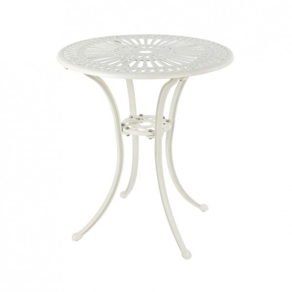 Table de jardin Saint-Tropez Aluminium (D66 cm) - Blanc - Salon de ...