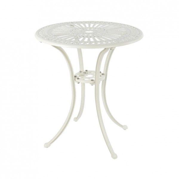 Table de jardin Saint-Tropez Aluminium (D66 cm) - Blanc - Table de ...