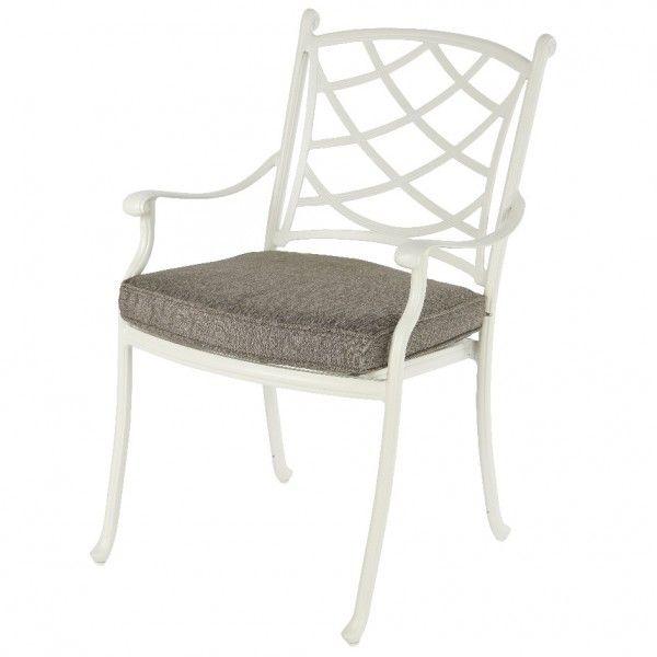 fauteuil de jardin style fer forg saint tropez blanc salon de jardin table et chaise eminza. Black Bedroom Furniture Sets. Home Design Ideas
