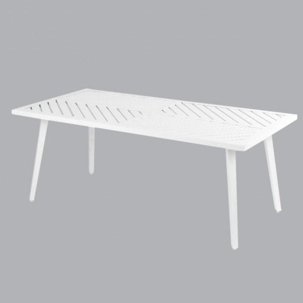 Table basse de jardin Aluminium Venice - Blanc