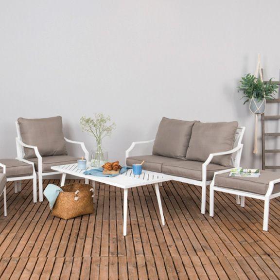 Tavolo basso da giardino alluminio venice bianco for Arredo giardino mestre