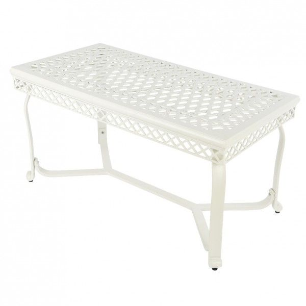 Table basse de jardin Aluminium Saint-Tropez - Blanc - Salon de ...