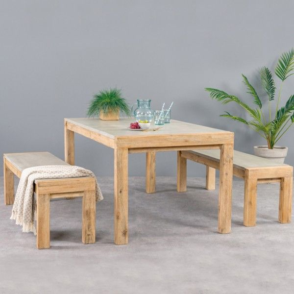 jardin de et banc Hamburg NaturelGris Table VpqzSUMG