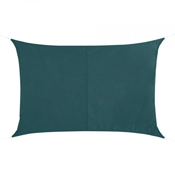 Voile d'ombrage Rectangulaire (2 x 3m) Curacao - Emeraude