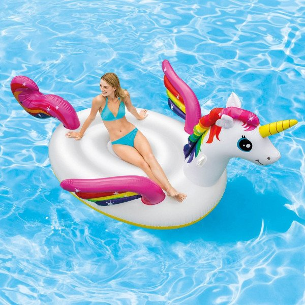 Ile gonflable flottante  Licorne - Intex
