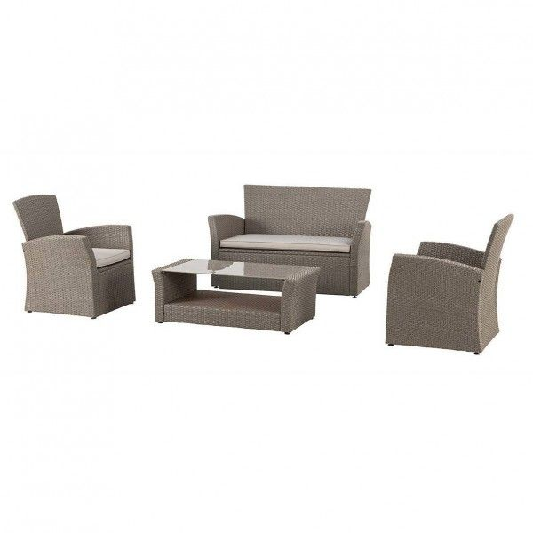lot de 3 coussins pour salon de jardin bora bora taupe. Black Bedroom Furniture Sets. Home Design Ideas