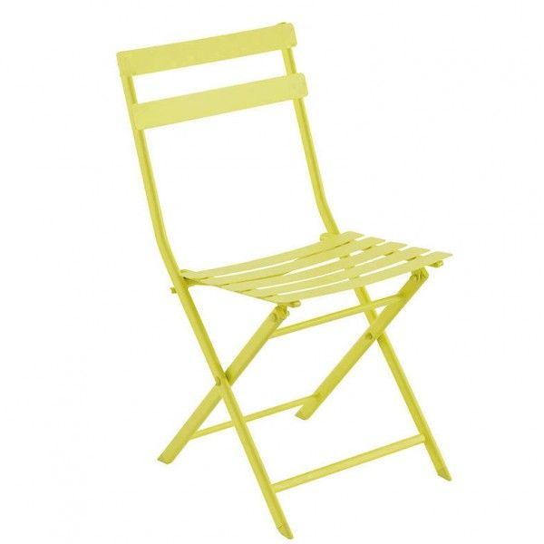 Chaise de jardin pliante Greensboro - Vert anis