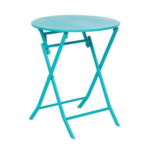 Table de jardin salon de jardin table et chaise eminza - Table de jardin ronde metal ...