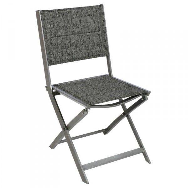 Chaise de jardin pliante allure mastic salon de jardin table et chaise eminza - Chaise pliante salon ...