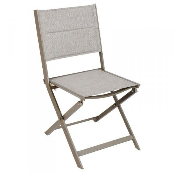 Chaise de jardin alu pliante Allure - Taupe