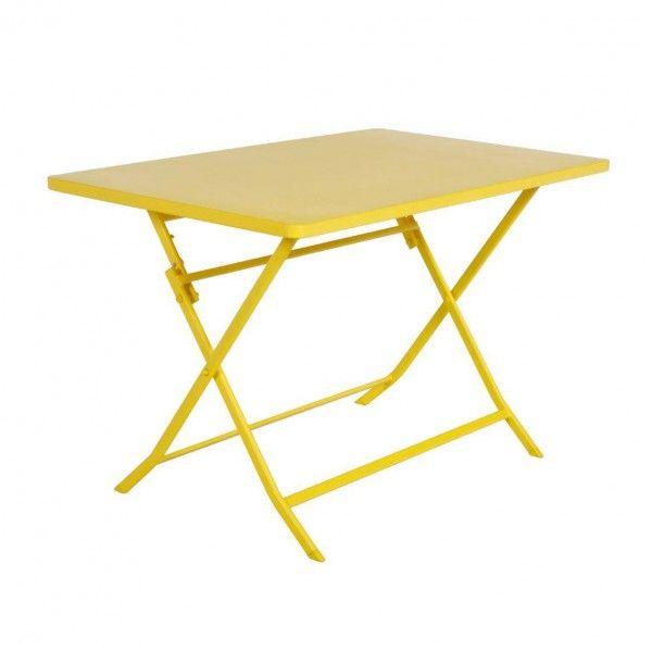 Table de jardin rectangulaire pliante Métal Greensboro (110 x 70 cm ...