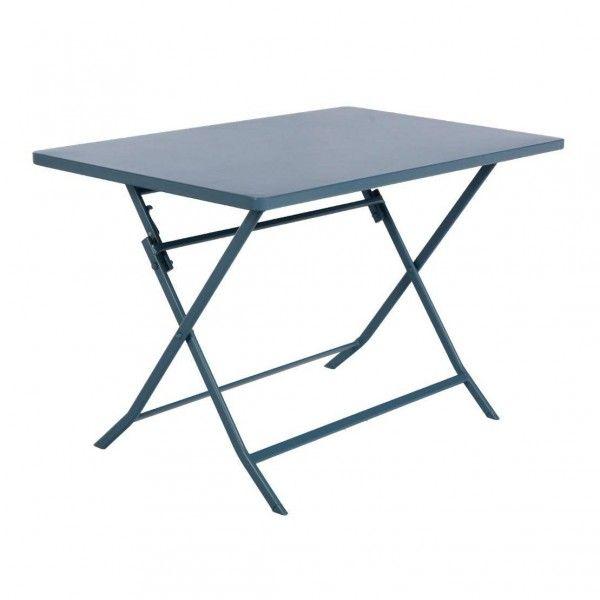 Table De Jardin Rectangulaire Pliante Mtal Greensboro  X  Cm