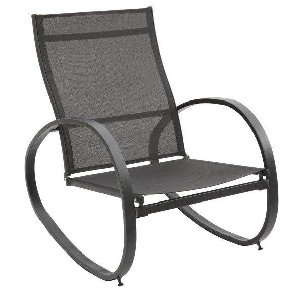 fauteuil bascule nevada graphite transat et hamac. Black Bedroom Furniture Sets. Home Design Ideas
