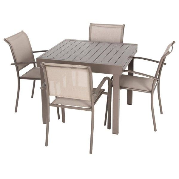 Table de jardin extensible piazza aluminium 180 x 90 cm moka table de jardin eminza - Table de jardin aluminium ...