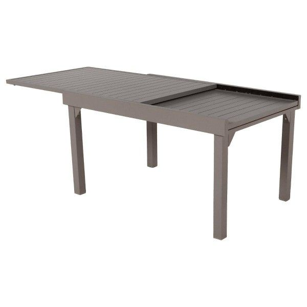 table de jardin extensible piazza aluminium 270 x 90 cm moka table de jardin eminza. Black Bedroom Furniture Sets. Home Design Ideas