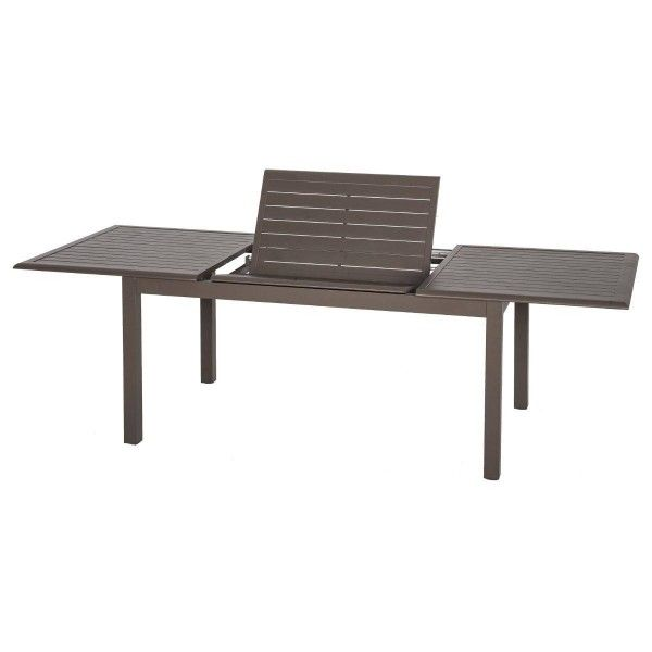 table de jardin extensible aluminium azua 240x 100 cm marron salon de jardin table et. Black Bedroom Furniture Sets. Home Design Ideas