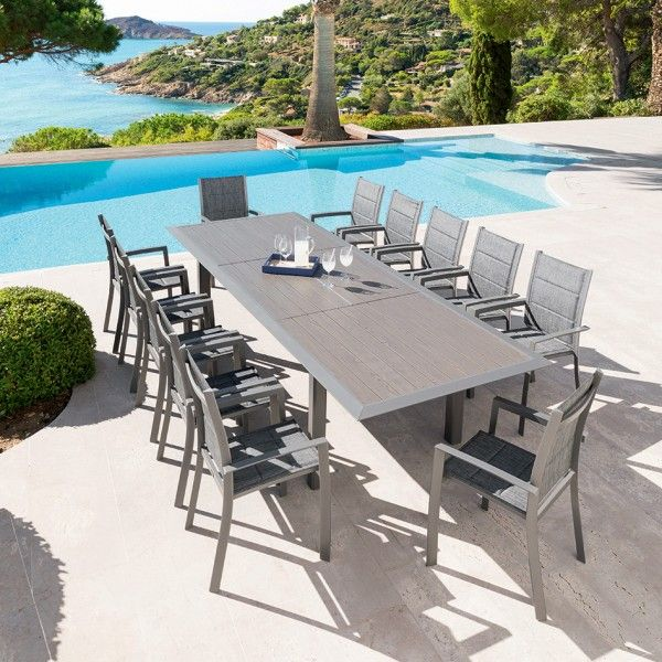 table de jardin extensible aluminium allure 316 x 115 cm. Black Bedroom Furniture Sets. Home Design Ideas