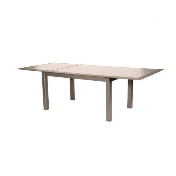 Table De Jardin Extensible Hpl Allure 254 X 115 Cm Taupe