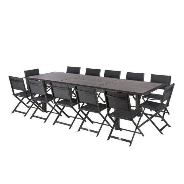 x Table cmGraphite de jardin extensible Allure316 115 HPL sxdBtrChQ