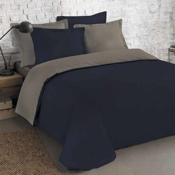 housse de couette bleu linge de lit eminza. Black Bedroom Furniture Sets. Home Design Ideas