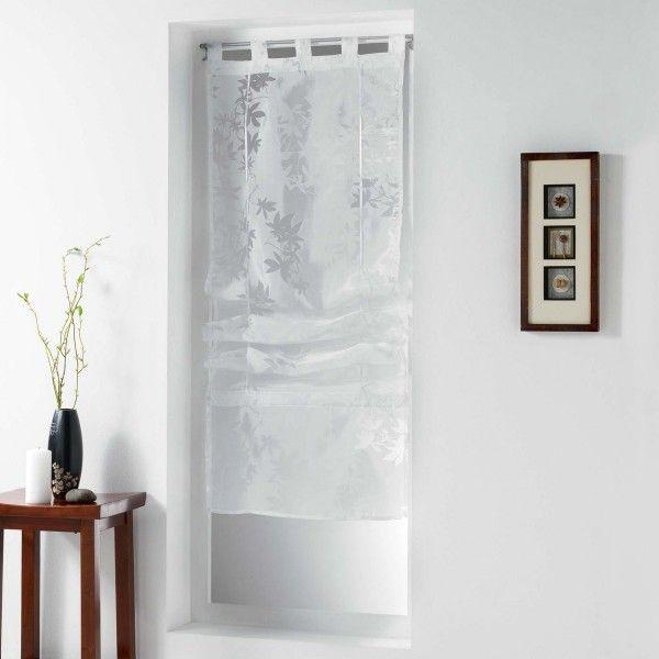 Store voilage droit (90 x 180 cm) Forestine Blanc - Rideau / Voilage ...