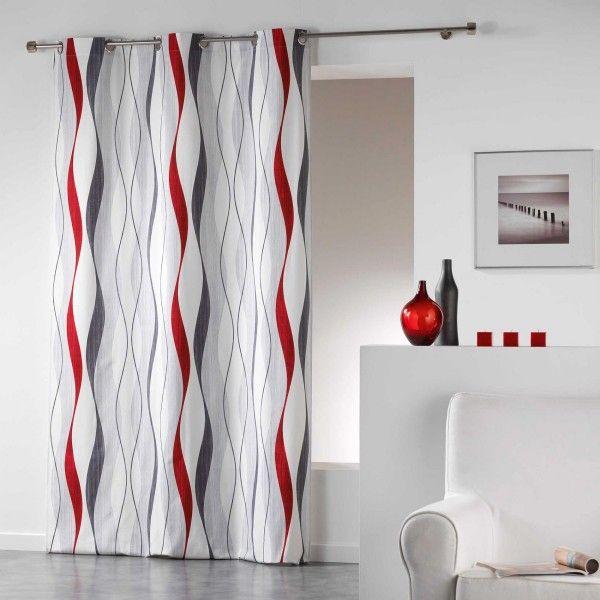 rideau tamisant 140 x 240 cm ondulys rouge rideau. Black Bedroom Furniture Sets. Home Design Ideas