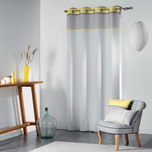 rideau tamisant 140 x 260 cm matik jaune rideau. Black Bedroom Furniture Sets. Home Design Ideas