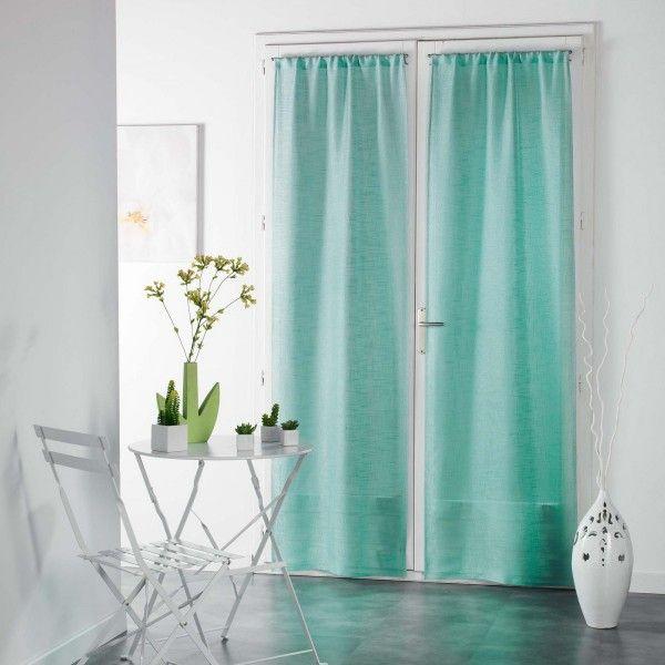 paire de voilages 70 x 240 cm haltona vert menthe rideau voilage store eminza. Black Bedroom Furniture Sets. Home Design Ideas