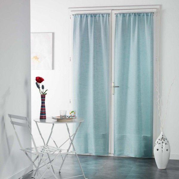paire de voilages 70 x 240 cm haltona bleu ciel rideau voilage store eminza. Black Bedroom Furniture Sets. Home Design Ideas