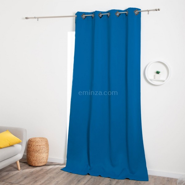 rideau occultant 140 x 260 cm cocoon bleu indigo. Black Bedroom Furniture Sets. Home Design Ideas
