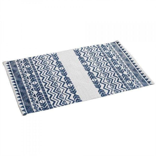 Tapis Imprime 80 Cm Lacanau Bleu Marine Tapis Eminza