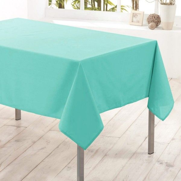 Mantel Rectangular Anti Mancha L200 Cm Essentiel Verde Menta