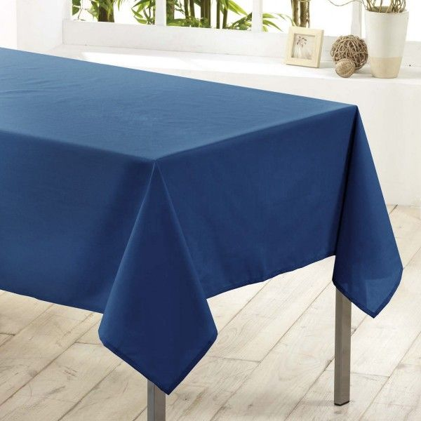 Nappe Rectangulaire Anti Tache L300 Cm Essentiel Bleu Indigo