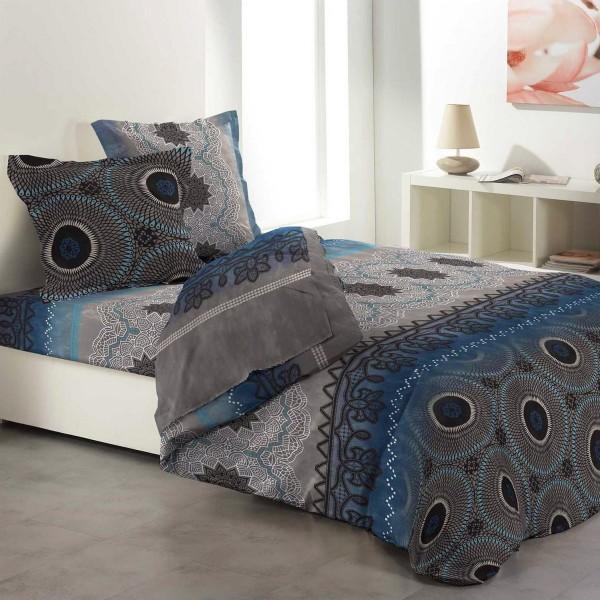 Parure De Couette Complete Coton 260 Cm 6 Pieces Orientalis Taupe
