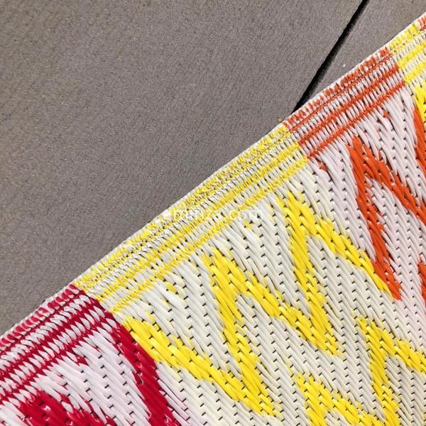 Tapis D Exterieur 120 X 180 Cm Ikati Orange Textile D
